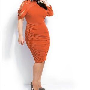 Monif C Dahlia Dress Orange Brand New 3X 22/24